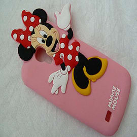DISNEY MINNIE MOUSE SOFT SILICONE CASE FOR SAMSUNG GALAXY S4 MINI I9190 Mobile phones