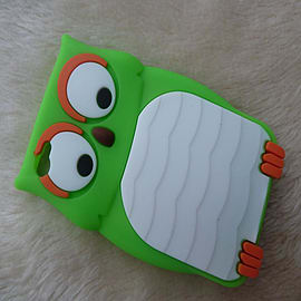 Owl Designs Silicone Case for Apple iPhone 4 4S Green Mobile phones