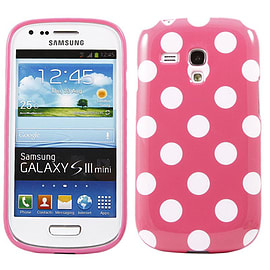DIA® Pink Silicone TPU Gel Dots case cover for Samsung Galaxy s3 Mini i8190 Mobile phones