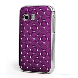 DIA® Purple Diamante Chrome effect hard case Cover for Samsung Galaxy Y S5360 Mobile phones