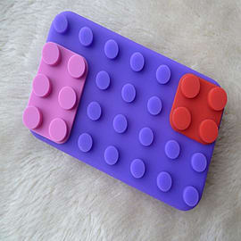 DIA Purple Building bricks silicone case Cover for iPhone 3 3g 3gs Mobile phones