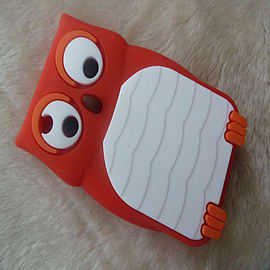 DIA Red Owl silicone case Cover for Blackberry Curve 8520 8530 9300 Mobile phones