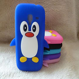 DIA® Royal Blue Dark Blue Silicone Penguin case cover for Samsung Galaxy Ace 2 i8160 Mobile phones