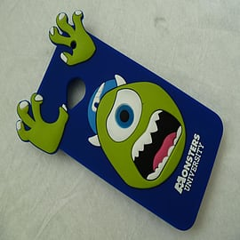 DIA ROYAL BLUE MIKE MONSTERS INC SILICONE CASE COVER FOR HTC ONE M7 Mobile phones