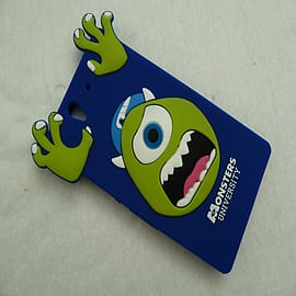 DIA ROYAL BLUE MIKE MONSTERS INC SILICONE CASE COVER FOR SONY XPERIA Z L36H Mobile phones