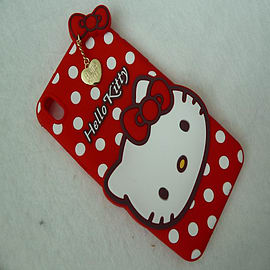 DIA RED HELLO KITTY DOTS SILICONE CASE COVER TO FIT SONY XPERIA Z2 Mobile phones