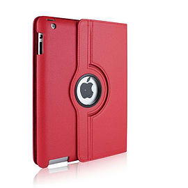 RED LEATHER 360 DEGREE ROTATING CASE COVER STAND FOR NEW APPLE iPAD 5 iPAD AIR Tablet