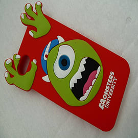 DIA RED MONSTERS INC MIKE SILICONE CASE COVER FOR IPHONE 4 4G 4S Mobile phones