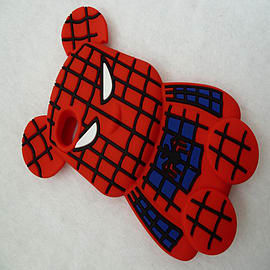 DIA RED SPIDERMAN SPIDERBEAR SILICONECASE COVER FITS APPLE IPHONE 4 4G 4S Mobile phones