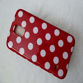DIA RED TPU GEL DOTS CASE COVER FOR SAMSUNG GALAXY S5 G900H Mobile phones
