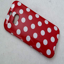 DIA RED TPU GEL DOTS CASE COVER FOR HTC ONE M8 Mobile phones