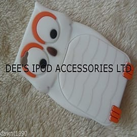 DIA White Owl silicone case Cover for iPhone 4 4g 4s Mobile phones