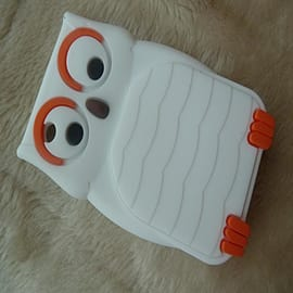 DIA White Owl silicone case Cover for Blackberry Curve 8520 8530 9300 Mobile phones