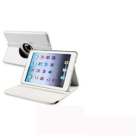 WHITE LEATHER 360 DEGREE ROTATING CASE COVER STAND FOR NEW APPLE iPAD 5 iPAD AIR 2013 Tablet