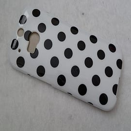 DIA WHITE TPU GEL DOTS CASE COVER FOR HTC ONE M8 Mobile phones