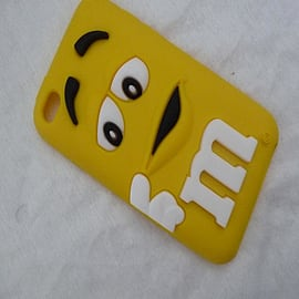 DIA Yellow M & M silicone case cover for iPod Touch 4 4g 4th gen Audio