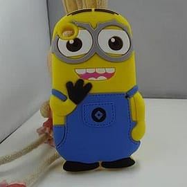 Minion Minions Soft Silicone Phone Case Cover for iPhone 4 4g 4s Two Eyes Mobile phones
