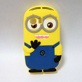 Minion Minions Soft Silicone Phone Case Cover for Samsung Galaxy Y S5360 Two Eye Mobile phones