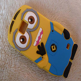 3D blue Despicable Me Minions Henchmen Soft Silicone Case Skin Protective Cover for Samsung Galaxy S Mobile phones