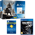 White PlayStation 4 with Destiny + Vanguard, Call of Duty: Ghosts and PlayStation Plus 12 Month Membership PlayStation 4
