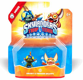 Skylanders Trap Team Minis Double Pack - Drobit and Trigger Snappy Toys and Gadgets