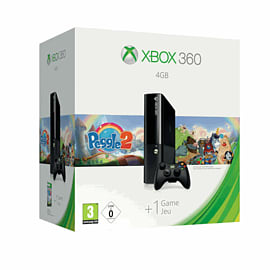 Xbox 360 4GB Console Bundle including Peggle 2 Xbox-360