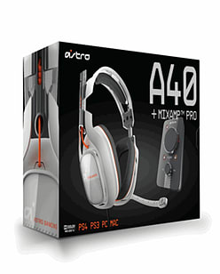 Astro A40 Gaming Headset with Mix Amp Pro for PlayStation 4 - Dove Accessories