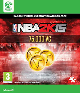 NBA 2K15 - 75,000 Virtual Currency Xbox Live