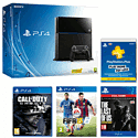 PlayStation 4 with FIFA 15, 12 months PS+, Call of Duty: Ghosts and The Last of Us Remastered Download Sku Format Code