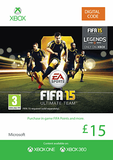 FIFA 15 Ultimate Team £15 Top Up Xbox Live Cover Art