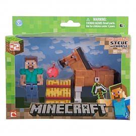 Minecraft Steve With Horse 3 Inch Figure Toys and Gadgets
