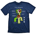 Minecraft Creeper Anatomy T-Shirt (Large) Clothing