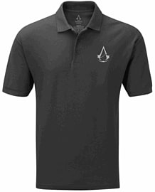 Assassin's Creed Polo Shirt - Black (Large) - Only at GAME Clothing