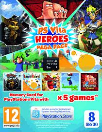 PlayStation Vita Heroes MEGA Pack with 8GB Memory Card Accessories