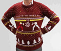 Street Fighter Christmas Jumper (S) Clothing