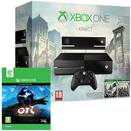 Xbox One with Kinect, AC: Unity, AC IV: Black Flag & Ori and the Blind Forest Xbox-One