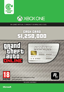 GTA Online Great White Shark Cash Card - $1,250,000 (Xbox One) Xbox Live