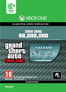 GTA Online Megalodon Shark Cash Card - $8,000,000 (Xbox One) Xbox Live