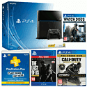 PlayStation 4 with CoD: Advanced Warfare Day Zero, The Last of Us Remastered download, Watch_Dogs and PS+ 12 Months PlayStation-4