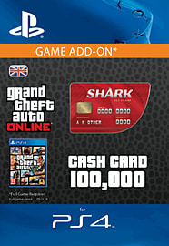 GTA Online Red Shark Cash Card - $100,000 (PS4) PlayStation Network