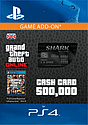 GTA Online Bull Shark Cash Card - $500,000 (PS4) PlayStation Network
