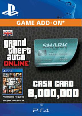 Buy GTA Online Megalodon Shark Cash Card - $8,000,000 (PS4 ...
