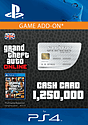 GTA Online Great White Shark Cash Card - $1,250,000 (PS4) PlayStation Network