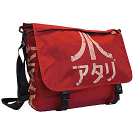Atari Messenger Bag With Japanese Logo (Crimson Red) Gifts and Gadgets