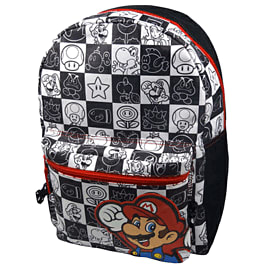 Super Mario Bros Backpack (Black/White) Gifts and Gadgets