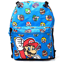 Super Mario Bros Characters Backpack (Blue) Gifts and Gadgets