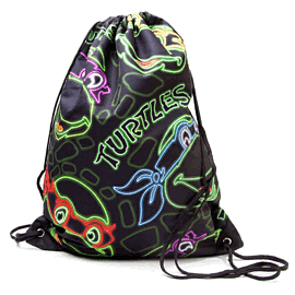 Teenage Mutant Ninja Turtles Retro Neon Faces Gymbag (Black) Gifts and Gadgets