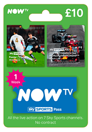 NOW TV Sky Sports 1 Week Pass Gifts