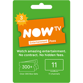 NOW TV Entertainment 3 Month Pass Gifts