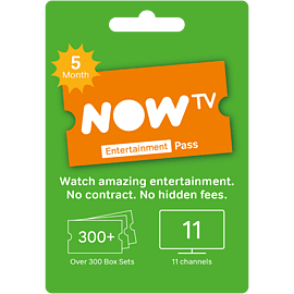 NOW TV Entertainment 5 Month Pass Gifts